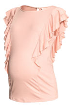 MAMA Frilled top - Powder pink - Ladies | H&M 2