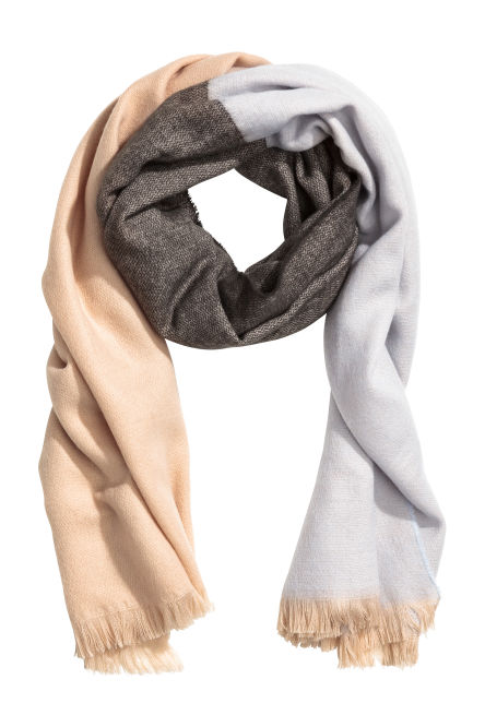 Block-coloured scarf