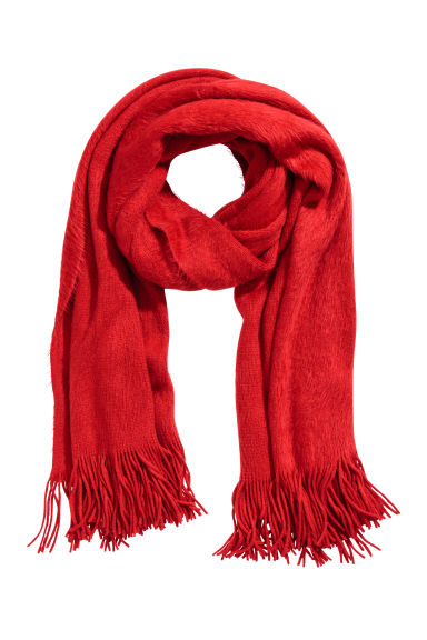 Large scarf - Red - Ladies | H&M CN 1