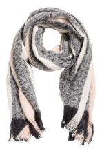 Striped scarf - Powder/White - Ladies | H&M 1