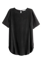 Short-sleeved top - Black - Ladies | H&M CN 2