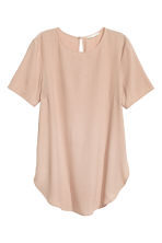 Short-sleeved top - Light beige - Ladies | H&M 2