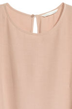 Short-sleeved top - Light beige - Ladies | H&M 3