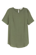 Short-sleeved top - Khaki green - Ladies | H&M 2