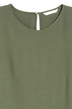 Short-sleeved top - Khaki green - Ladies | H&M 3