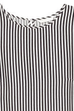 Short-sleeved top - White/Black striped - Ladies | H&M CN 3