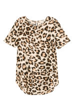 Short-sleeved top - Leopard print - Ladies | H&M GB 2
