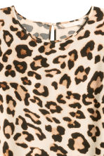Short-sleeved top - Leopard print - Ladies | H&M GB 3