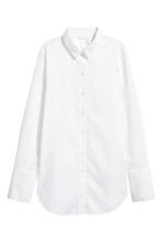 Wide cotton shirt - White -  | H&M 2