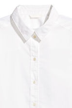 Wide cotton shirt - White -  | H&M 3