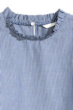 Frilled cotton blouse - Dark blue/Striped - Ladies | H&M 3