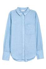Cotton shirt - Light blue marl - Ladies | H&M 2