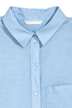 Cotton shirt - Light blue marl - Ladies | H&M 3