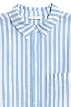 Cotton shirt - Light blue/Striped - Ladies | H&M 3