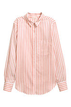 Cotton shirt - Powder pink/Striped - Ladies | H&M GB 2