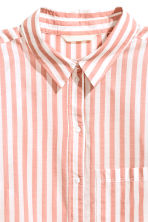 Cotton shirt - Powder pink/Striped - Ladies | H&M 3