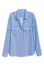 Camicia in viscosa - Blu/bianco righe - DONNA | H&M IT 2