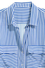 Camicia in viscosa - Blu/bianco righe - DONNA | H&M IT 3