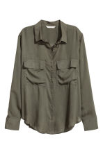 Viscose shirt - Khaki green - Ladies | H&M 2