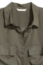 Viscose shirt - Khaki green - Ladies | H&M CN 3