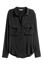 Viscose shirt - Black - Ladies | H&M 2
