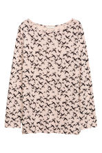 Long-sleeved top - Powder/Birds - Ladies | H&M 2