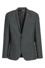 Jacket Skinny fit - Dark grey marl - Men | H&M 2