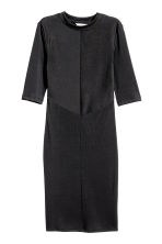 Ribbed dress - Black -  | H&M 2
