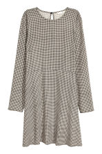 Patterned dress - Light beige/Checked -  | H&M 2