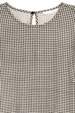 Patterned dress - Light beige/Checked -  | H&M 3