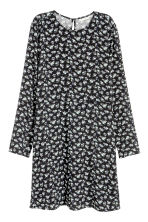 Patterned dress - Black/Floral - Ladies | H&M CN 2