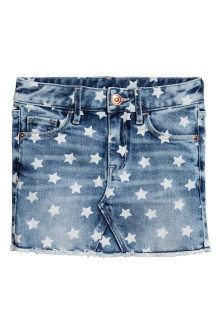 Patterned denim skirt