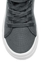 Cotton canvas trainers - Dark grey -  | H&M 3