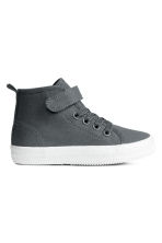 Cotton canvas trainers - Dark grey -  | H&M 1
