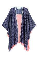 Poncho fantasia - Blu scuro/rosa - DONNA | H&M IT 1