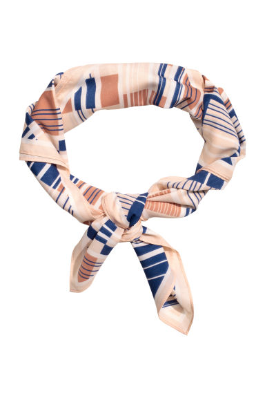 Patterned scarf - Powder/Blue patterned - Ladies | H&M CA