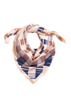 Patterned scarf - Powder/Blue patterned - Ladies | H&M CA 2