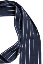 Narrow scarf - Dark blue/Striped - Ladies | H&M 2
