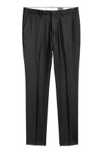 Wool suit trousers Slim fit - Black - Men | H&M CN 2