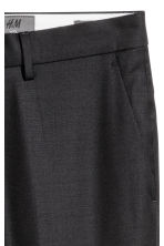 Wool suit trousers Slim fit - Black - Men | H&M 4