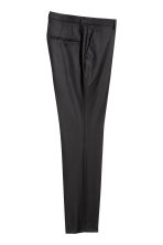 Wool suit trousers Slim fit - Black - Men | H&M CN 3
