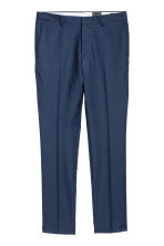 Wool suit trousers Slim fit - Navy blue - Men | H&M CN 2