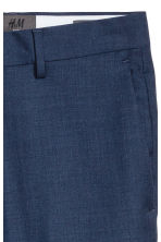 Wool suit trousers Slim fit - Navy blue - Men | H&M 4