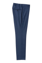 Wool suit trousers Slim fit - Navy blue - Men | H&M 3