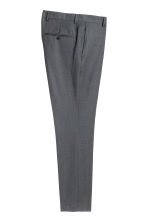 Wool suit trousers Slim fit - Dark grey - Men | H&M 3