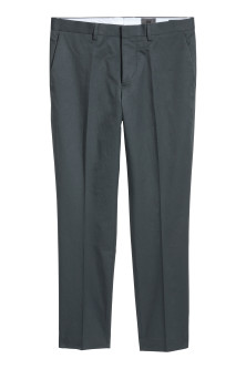 Cropped suit trousers Slim fit