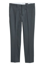 Cropped suit trousers Slim fit - Grey green - Men | H&M 2