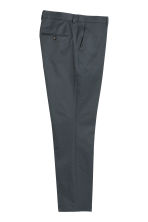 Cropped suit trousers Slim fit - Grey green - Men | H&M 3