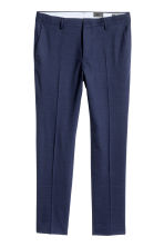 Wool suit trousers Skinny Fit - Navy blue - Men | H&M CA 2
