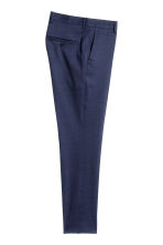 Wool suit trousers Skinny Fit - Navy blue - Men | H&M CN 3